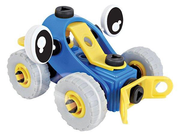 Auto Construtores CARRO (Azul e Amarelo) - Dican