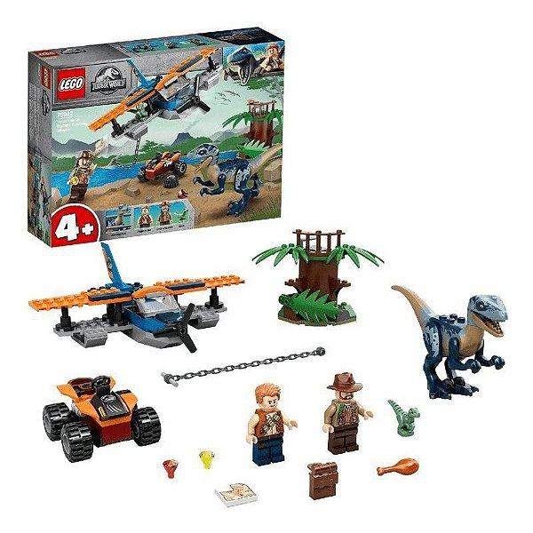 LEGO Jurassic World 75942 Velociraptor: Missão de Resgate com Biplano