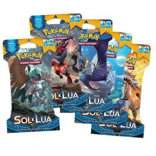 Pokemon Cartas - Sol e Lua - Blister com 6 Cards
