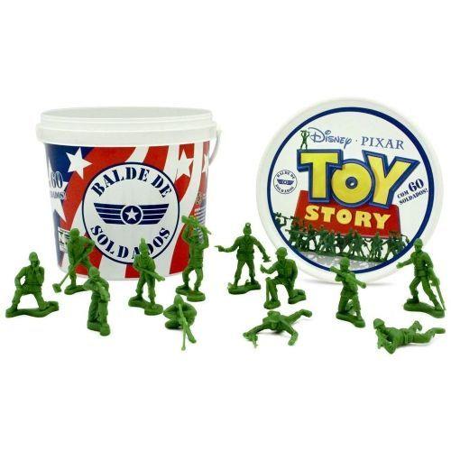 Balde Com 60 Soldados Toy Story
