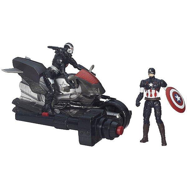 Moto Propulsor Capitão América & Maquina de Guerra - Hasbro - Avengers