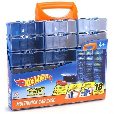 Porta Carrinhos Hot Wheels Modular C/18