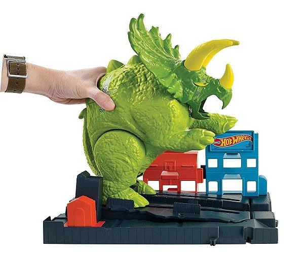 Pista Hot Wheels ATAQUE DE TRICERAPTORS - Mattel