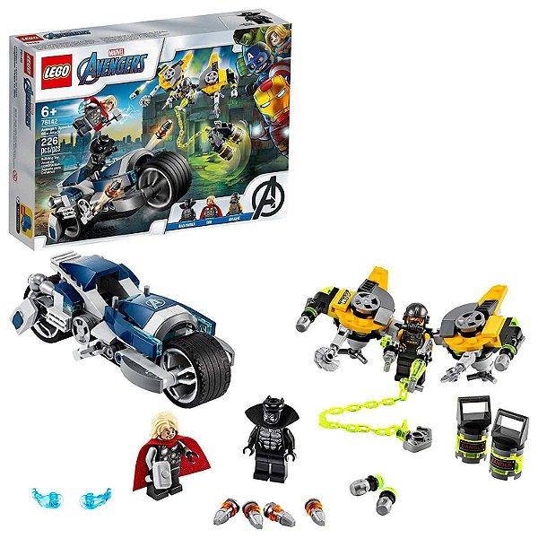LEGO Avengers - Disney - Marvel - Vingadores Ataque Da Speeder Bike - LEGO 76142