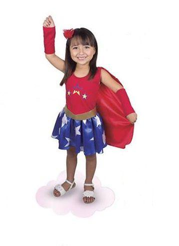 """Fantasia Menina Super Star """" Mulher Maravilha"""" - Brink Model"""