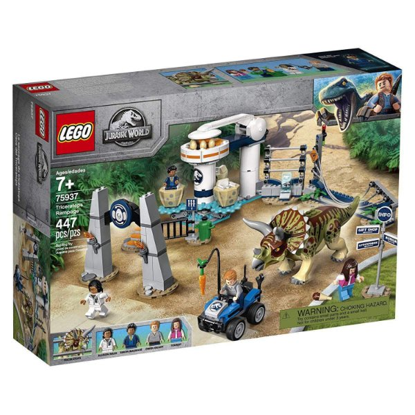 Lego 75937 - Jurassic World - Fúria Do Triceratops - 447 pçs