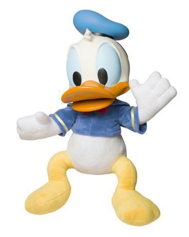 Boneco Pato Donald Pelúcia e Vinil Disney Baby Brink