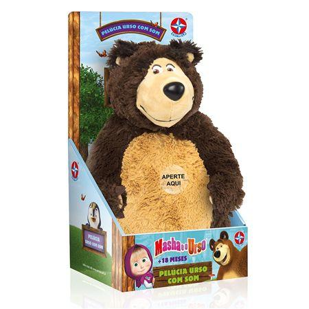 Urso Pelúcia com Som - Masha e o Urso - Estrela