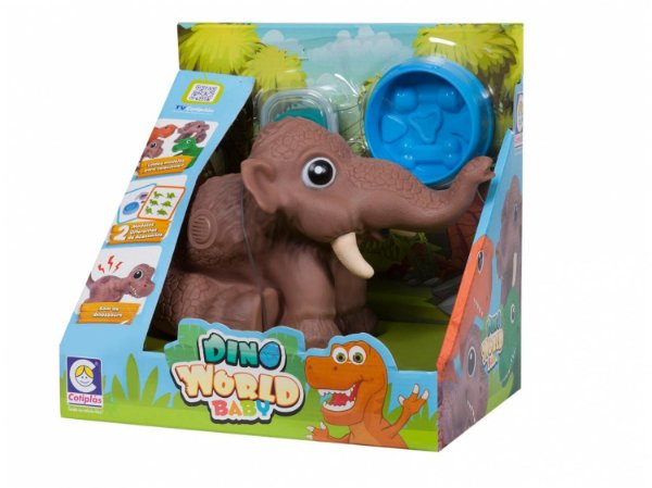 Dinossauro World Baby Mamute 17cm  - com Acessórios