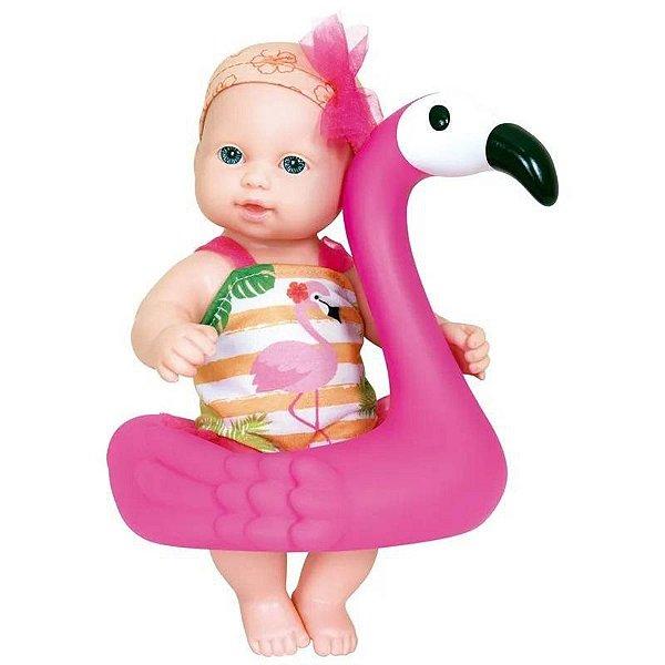 Banho do Bebê 27 Cm Flamingo - Cotiplás