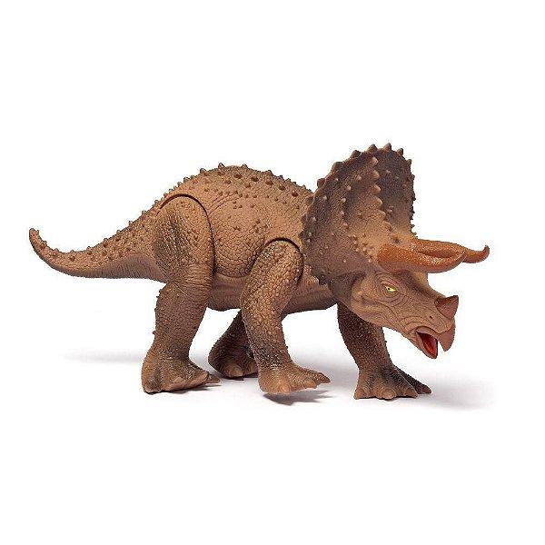 Dinossauro Triceratops Articulado 45cm Com Som