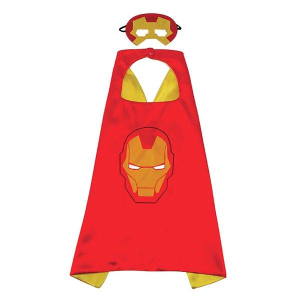 Fantasia Homem de Ferro - Capa em tecido e Máscara em Feltro
