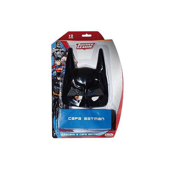 Kit Máscara e Capa Batman Liga de Justiça Infantil
