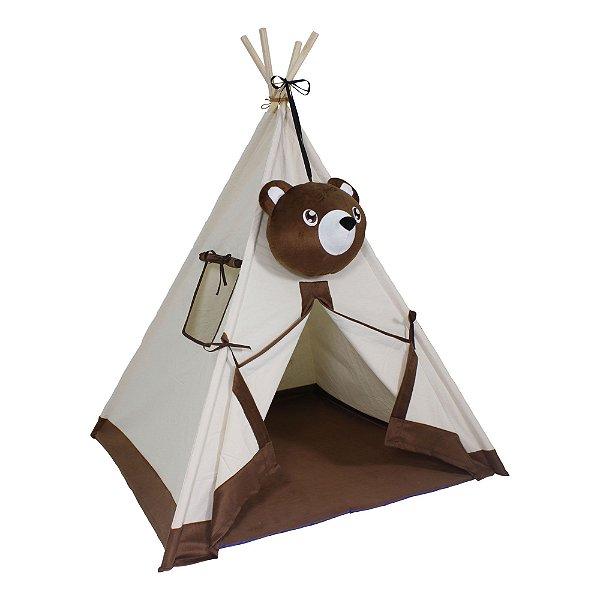 Cabana Urso em Tecido e Madeira