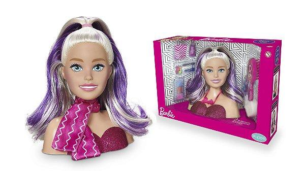 Barbie Styling Faces com Acessórios para Maquiar e Pentear
