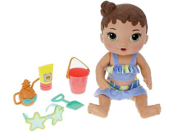 Boneca Baby Alive Morena Bebê Sol e Areia com Acessórios