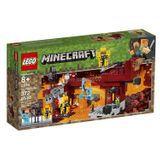 Lego Minecraft A Ponte Flamejante 372 Peças - 21154