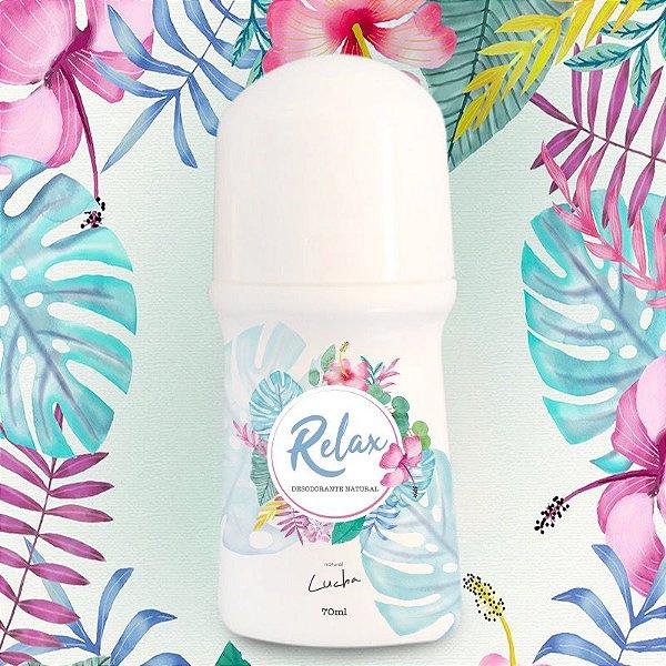 Desodorante Rollon Relax com Óleos Essenciais de Lavanda, Sálvia e Melaleuca - Natural Lucha 70ml