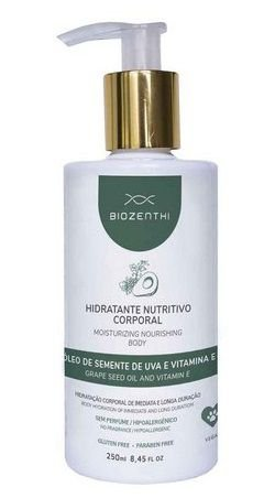 Hidratante Corporal Nutritivo Sem Perfume - Biozenthi 250 ML