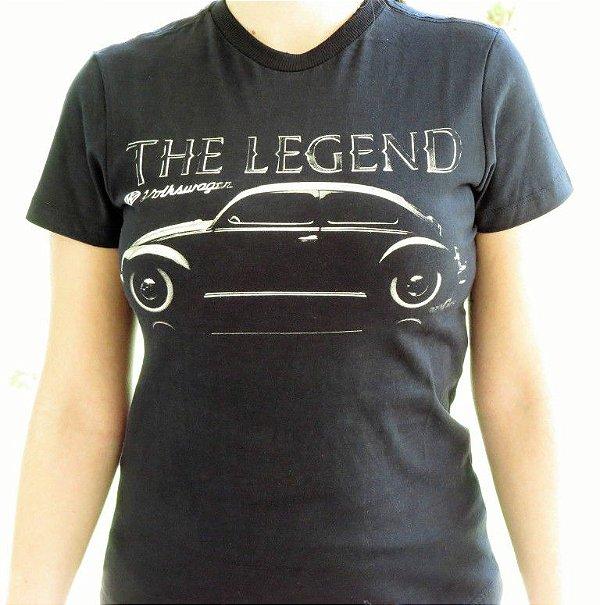 Camiseta Feminina Fusca Legend Preta