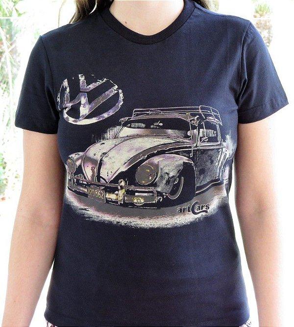 Camiseta Feminina Fusca Ride Preta