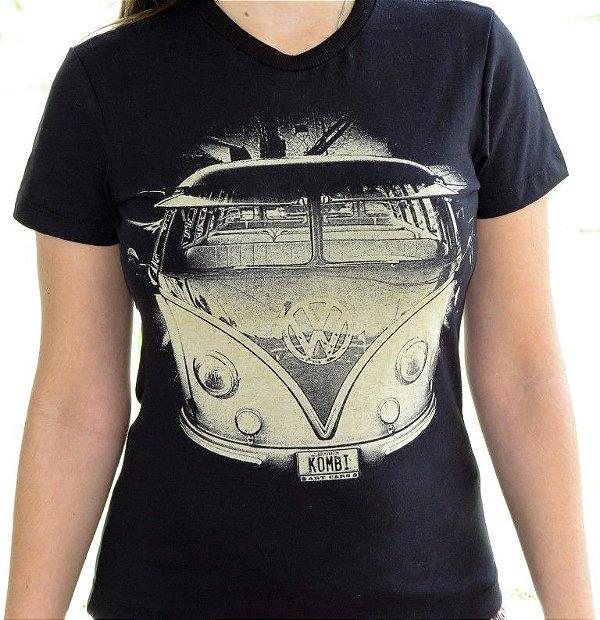 Camiseta Feminina Kombi Preta
