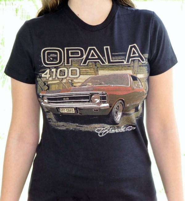 Camiseta Feminina Opala 4100 Preta