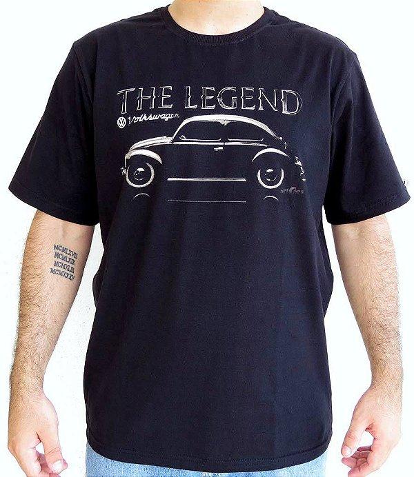 Camiseta Masculina Fusca Legend Preta