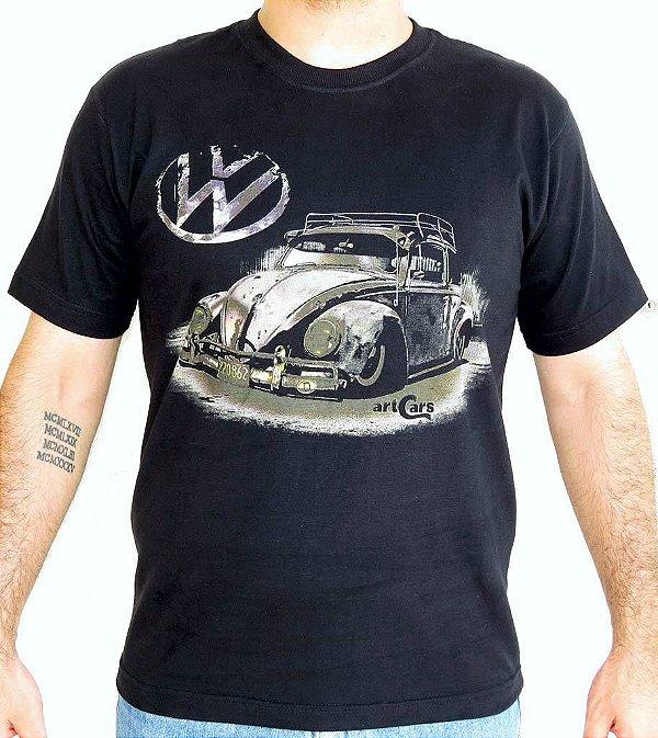 Camiseta Masculina Fusca Ride Preta