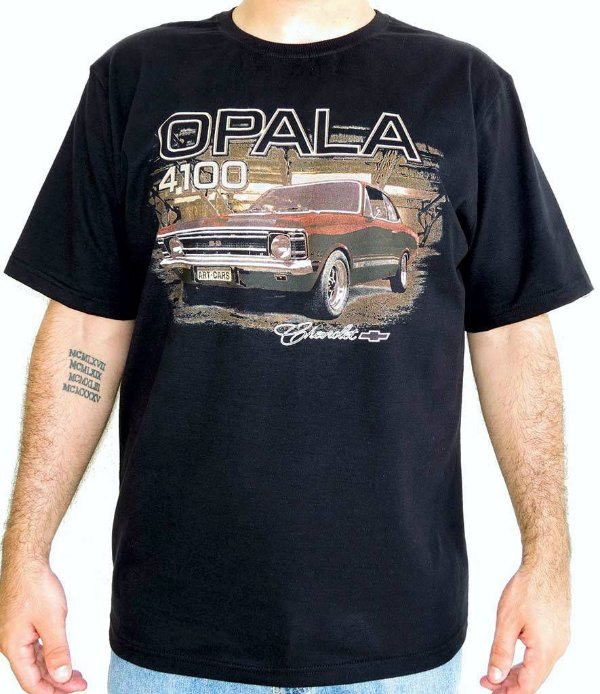 Camiseta Masculina Opala 4100 Preta