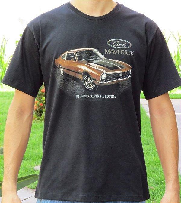 Camiseta Masculina Maverick Rotina Preta