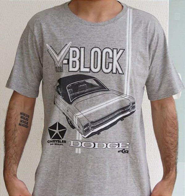 Camiseta Masculina Dodge V Block Mescla