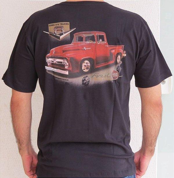 Camiseta Masculina F 100 1950 Preta