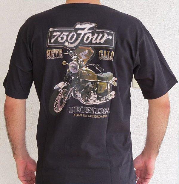 Camiseta Masculina Honda 750 Four Preta