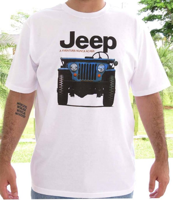 Camiseta Masculina Jeep CJ3 Branca