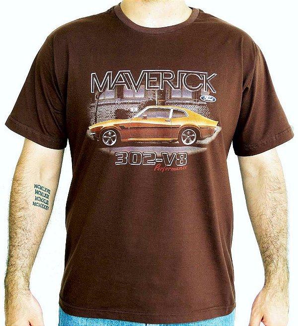 Camiseta Masculina Maverick Lateral Marrom