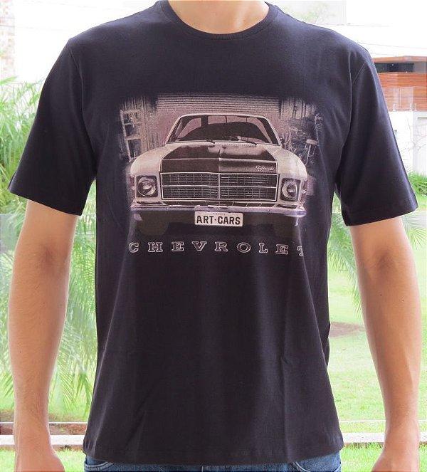 Camiseta Masculina Opala Frente Preta