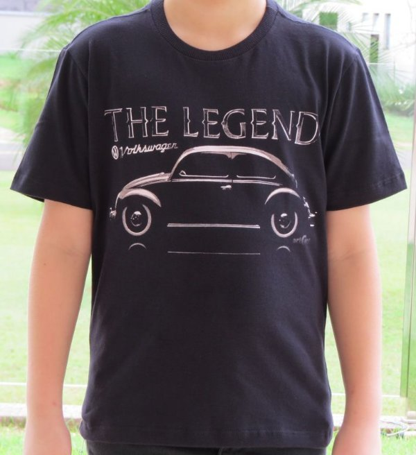 Camiseta Infantil Fusca Legend Preta