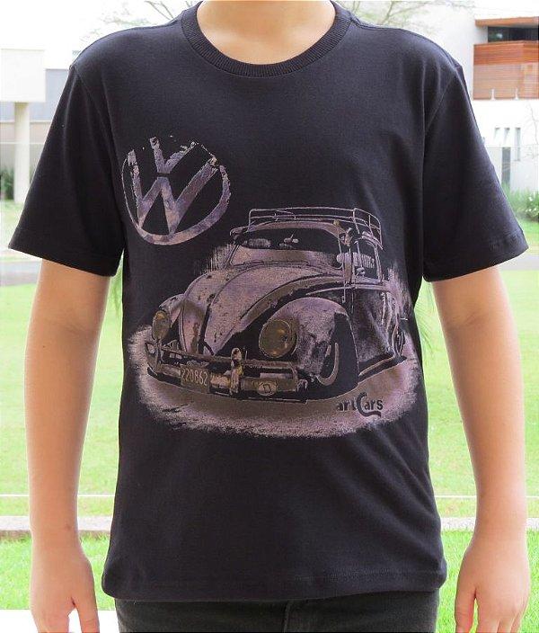Camiseta Infantil Fusca Ride Preta