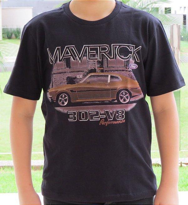 Camiseta Infantil Maverick Lateral Preta