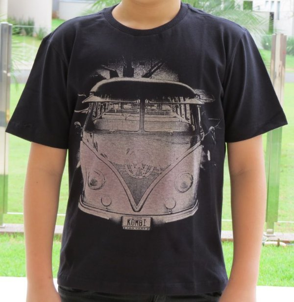 Camiseta Infantil Kombi Antiga Preta