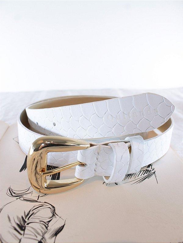 Cinto Clássico Anaconda Branco