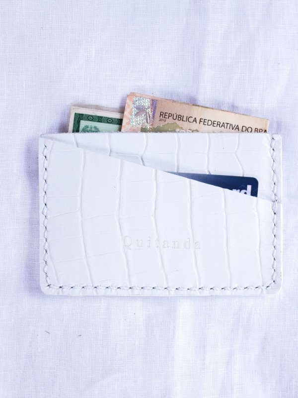 Porta Cartões RG Branco