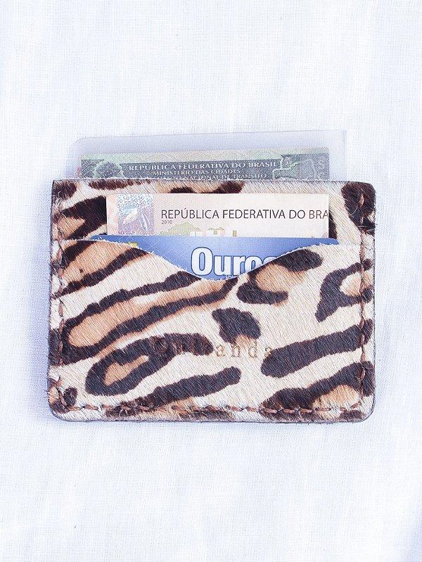 Porta Cartões CNH Leopardo
