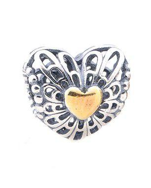 Charm Coração Vazado Declaração de Amor