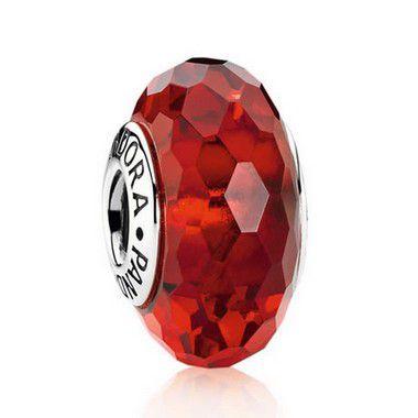 Charm Murano Facetado Vermelho