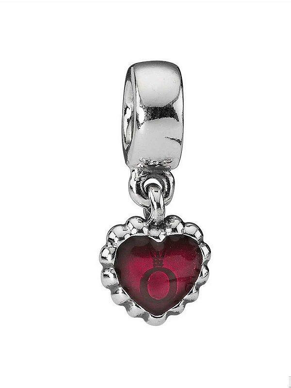 Charm Pendente Coração Rosa PAND