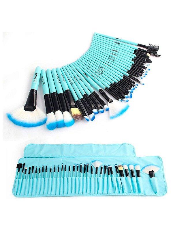 Kit 32 Pincéis Makeup Brushes Set MUSA