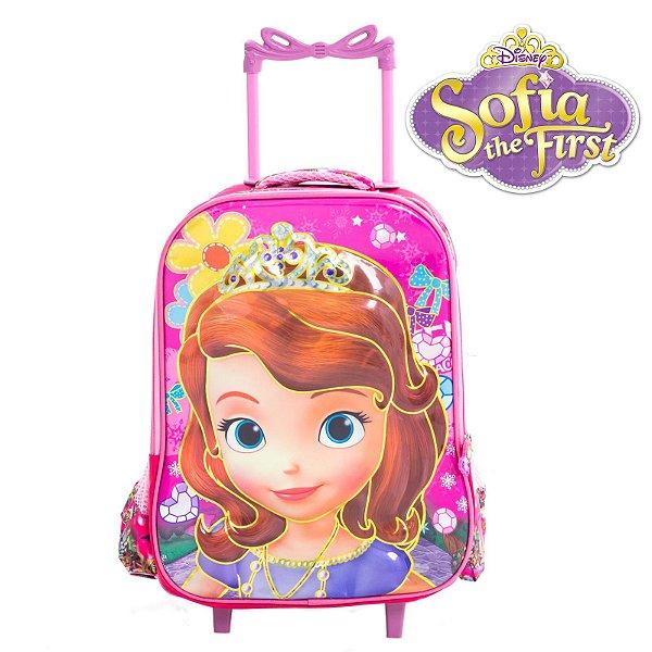 Mochila Infantil Escolar Com Rodinhas Princesinha Sofia