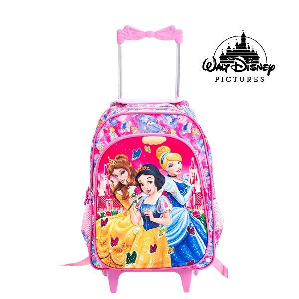 Mochila Infantil Escolar Com Rodinhas Princesas